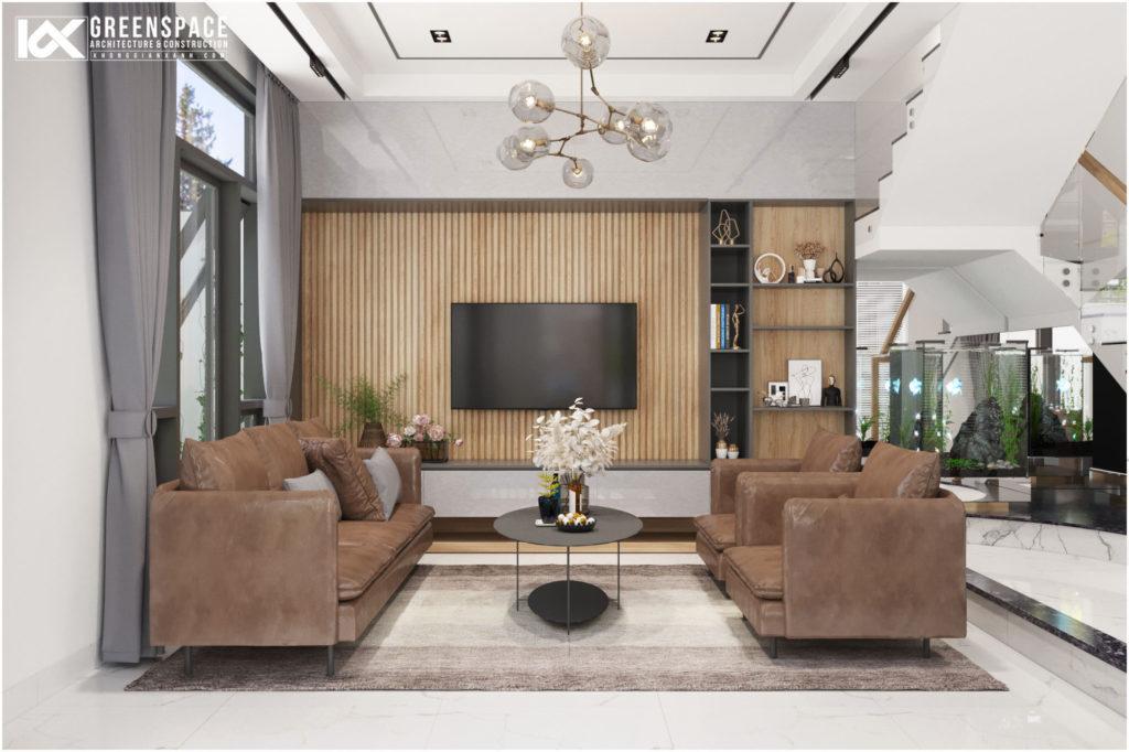 Thiết kế nội thất nhà phố đẹp Vũng Tàu - Gam màu nhẹ nhàng tinh tế