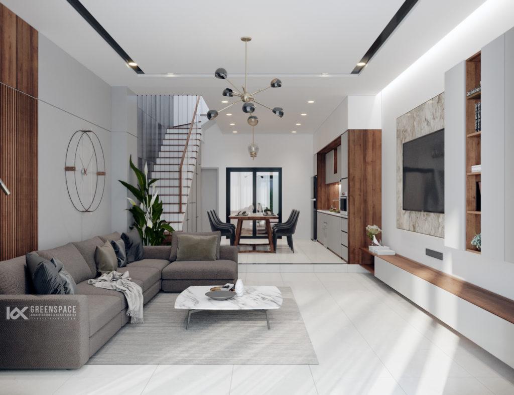 Thiết kế nội thất nhà phố rộng 5m - phong cách trẻ trung hiện đại