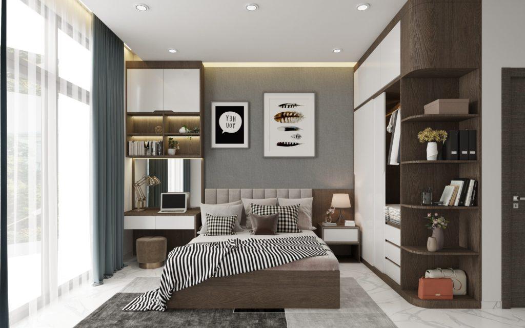 Nội thất nhà phố đẹp lạ – Vẻ đẹp của tone xám dịu dàng
