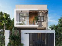 Thiết kế kiến trúc nhà phố 2 tầng - Phong cách hiện đại cá tính