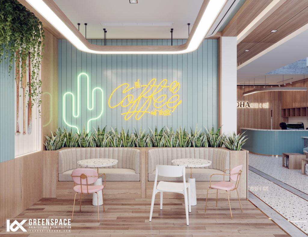 Thiết kế quán cafe trong khách sạn – nét phá cách ngọt ngào