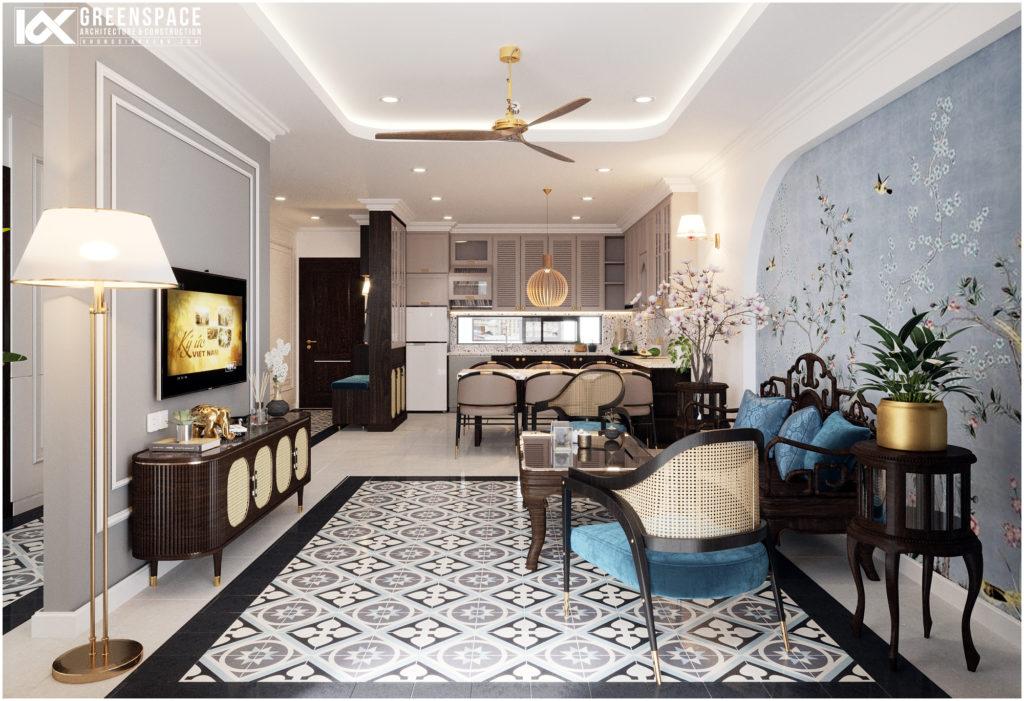 Thiết kế căn hộ phong cách Indochine - Sự giao thoa bản sắc độc đáo