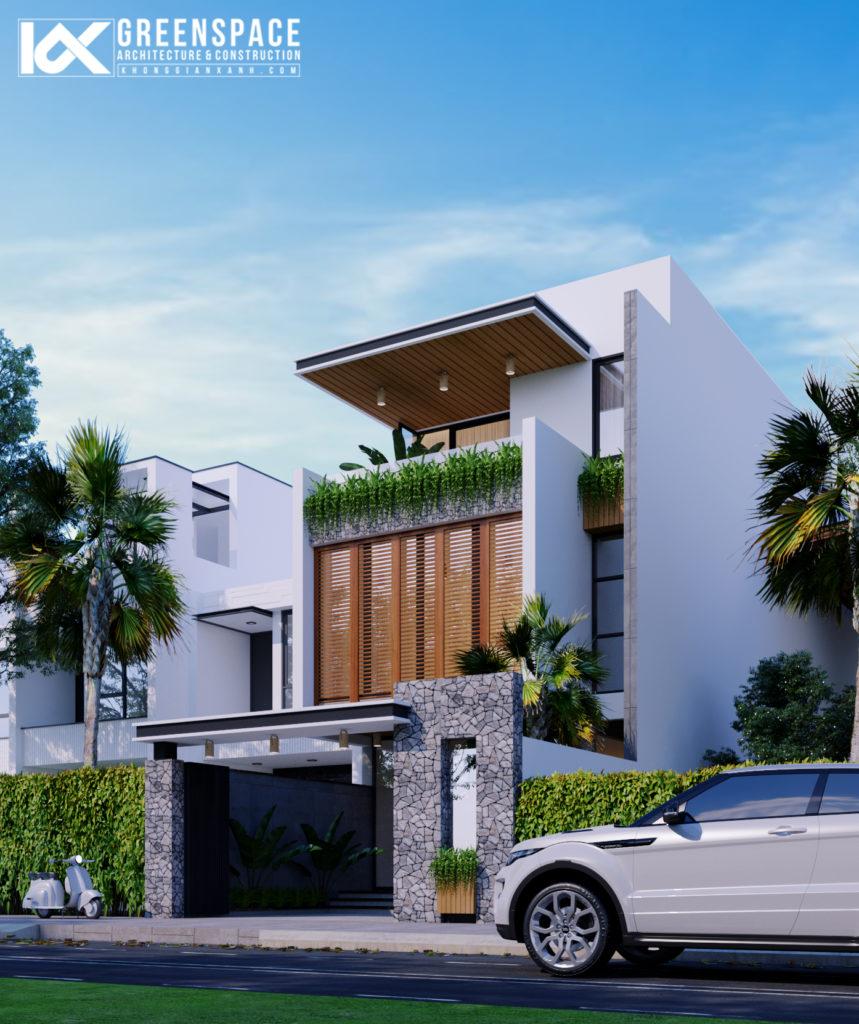 Thiết kế kiến trúc nhà ở kết hợp kinh doanh – Vẻ đẹp của ngôn ngữ hình khối