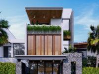 Thiết kế kiến trúc nhà ở kết hợp kinh doanh - Vẻ đẹp của ngôn ngữ hình khối