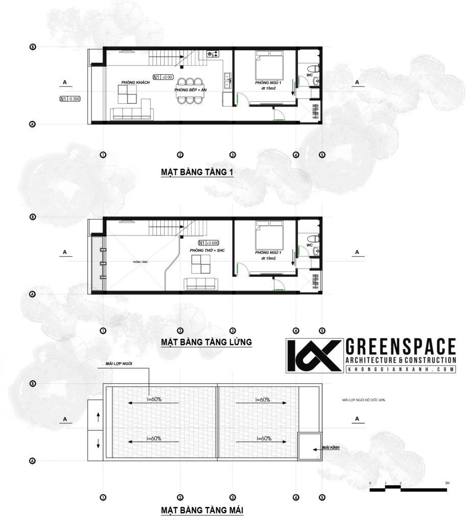 Thiết kế nhà cấp 4 có gác lửng – Hội An
