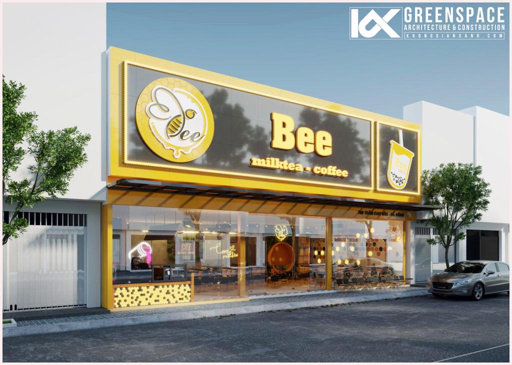 Thiết kế quán trà sữa Bee MilkTea
