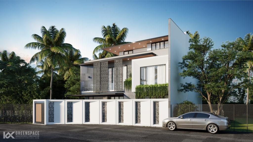 Thiết kế kiến trúc biệt thự mặt tiền 15m – Phong cách hiện đại độc đáo