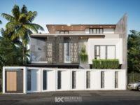 Thiết kế kiến trúc biệt thự mặt tiền 15m - Phong cách hiện đại độc đáo