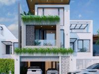 Thiết kế nhà ở 3 tầng hiện đại