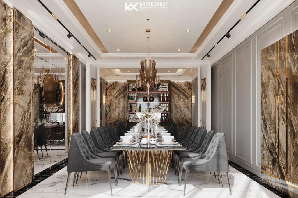 Thiết kế nội thất biệt thự tân cổ điển đẳng cấp