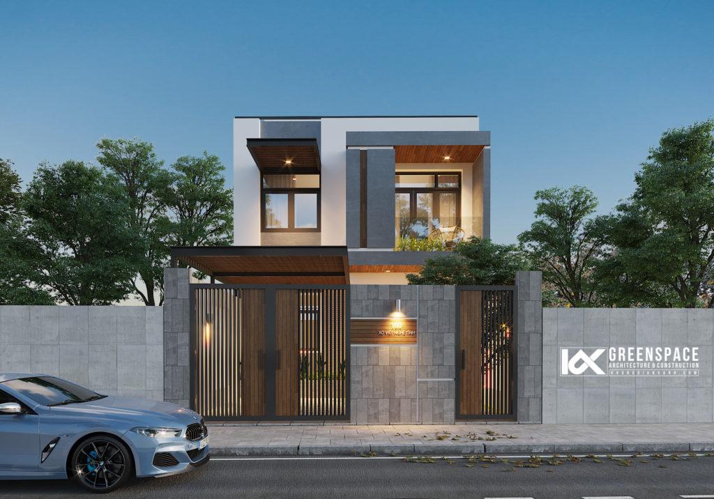 Nhà phố mặt tiền rộng 7.5m – Phong cách hiện đại tối giản
