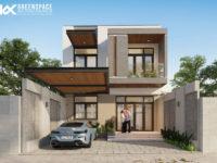 Nhà phố mặt tiền rộng 7.5m - Phong cách hiện đại tối giản