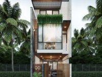 Thiết kế nhà phố mặt tiền rộng 5m