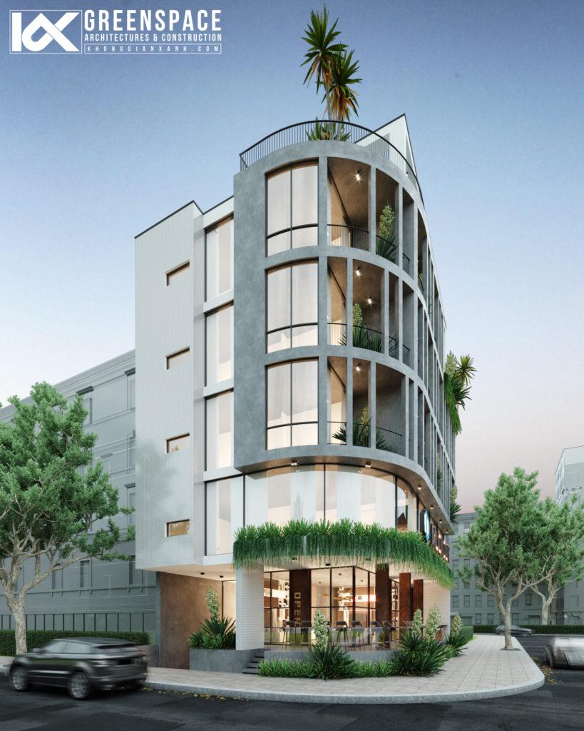 Thiết kế văn phòng kết hợp căn hộ cho thuê Đà Nẵng1