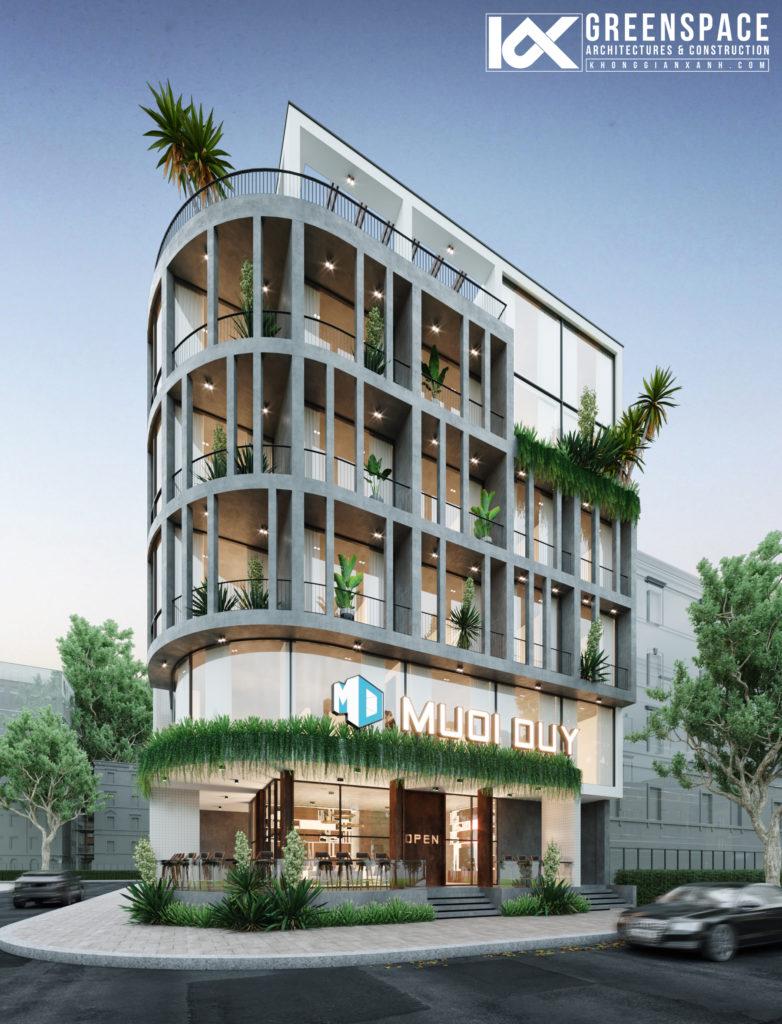Thiết kế văn phòng kết hợp căn hộ cho thuê Đà Nẵng
