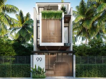 Thiết kế kiến trúc nhà phố rộng 5m