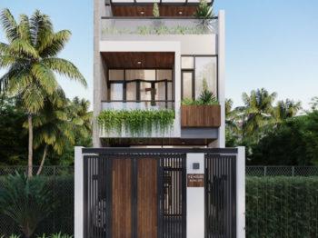 Thiết kế kiến trúc nhà phố hiện đại 85m2
