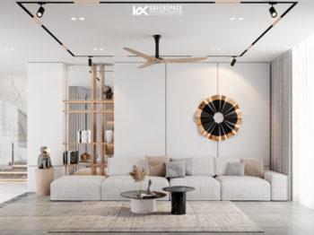 Thiết kế nội thất biệt thự vườn Phú Mỹ - Gam màu trong trẻo nhẹ nhàng