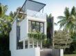 Thiết kế kiến trúc nhà ở 3 tầng – Nét xanh tươi mới mẻ giữa lòng đô thị