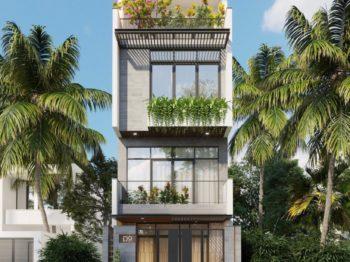 Thiết kế cải tạo nhà phố 4 tầng - Vẻ đẹp hiện đại tươi mới