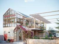 Thiết kế nhà hàng lẩu nướng - phong cách mộc mạc gần gũi