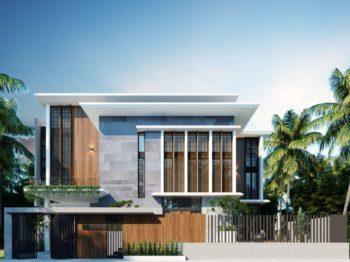 Thiết kế kiến trúc biệt thự phố - phong cách hiện đại