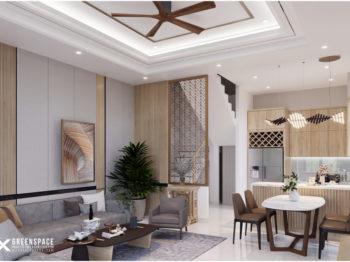 Thiết kế nội thất nhà phố 50m2 - phong cách trẻ hiện đại